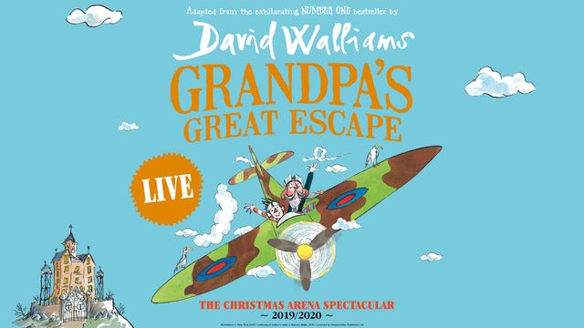 Grandpa's Great Escape Live FlyDSA Arena (Sheffield Arena) Seating Plan