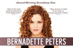 Bernadette Peters The Lowry Seating Plan