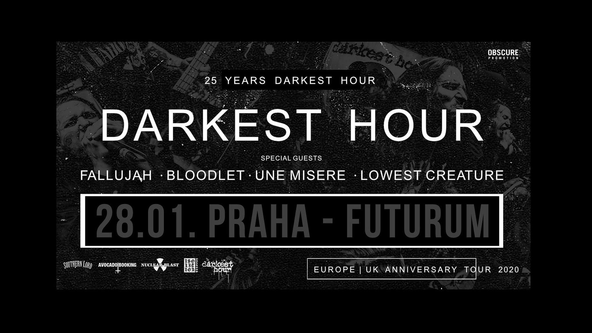Darkest hour, Fallujah, Bloodlet, Une misere, Lowest creature