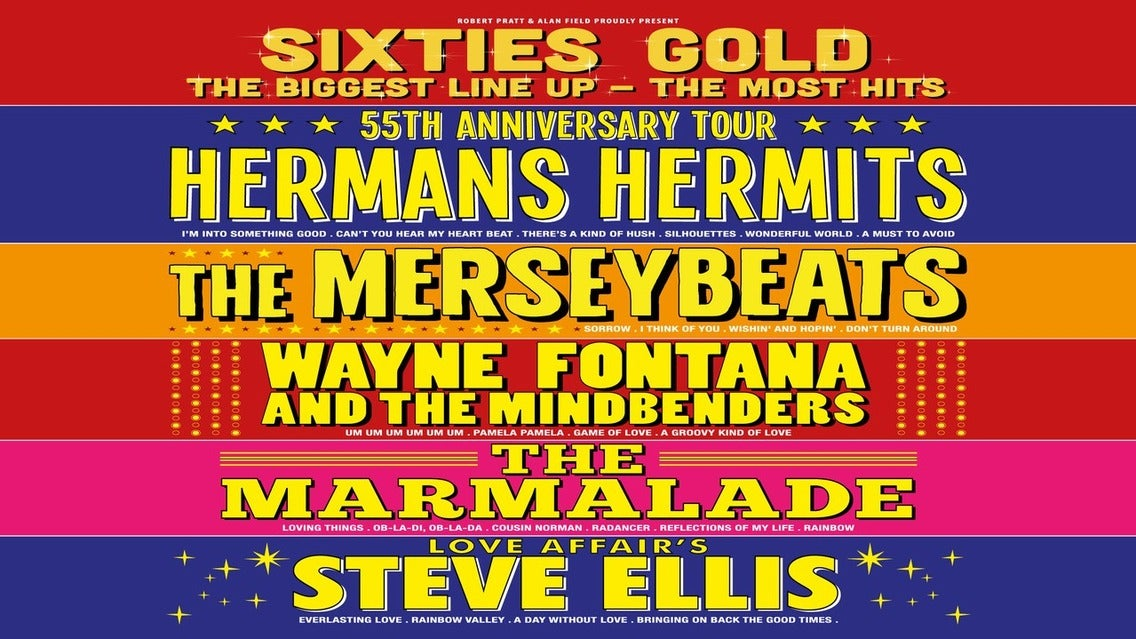 Sixties Gold 2020 tickets (Copyright © Ticketmaster)