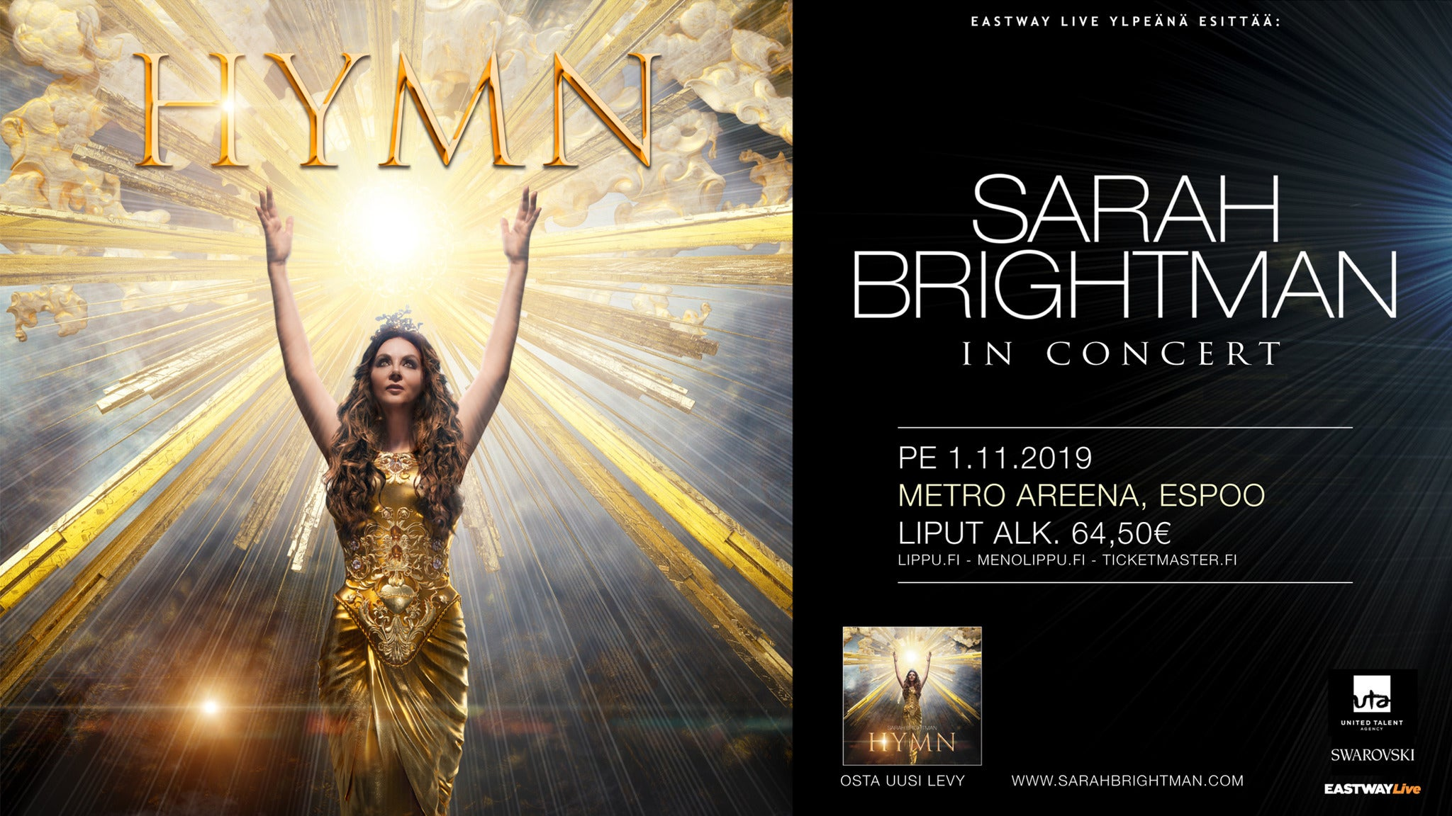 HYMN Sarah Brightman In Concert at The Mahaffey Theater