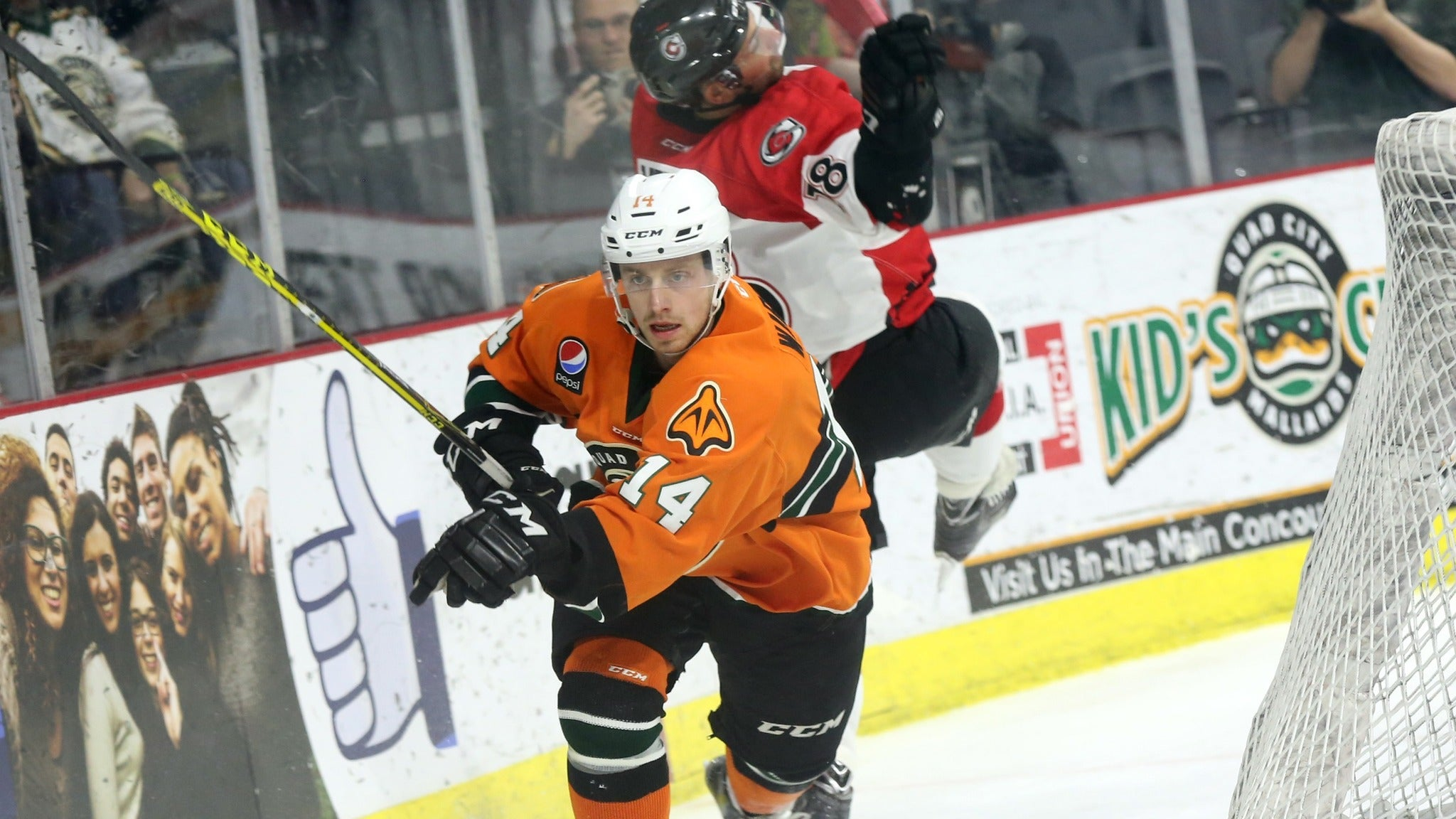 Quad City Mallards vs. Kalamazoo Wings at iWireless Center