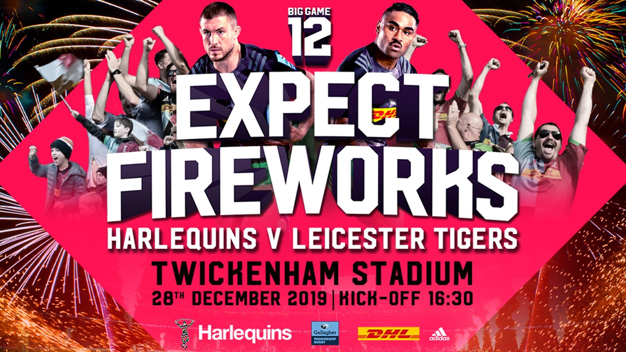 Big Game 12: Harlequins V Leicester Tigers Twickenham Stadium Seating Plan