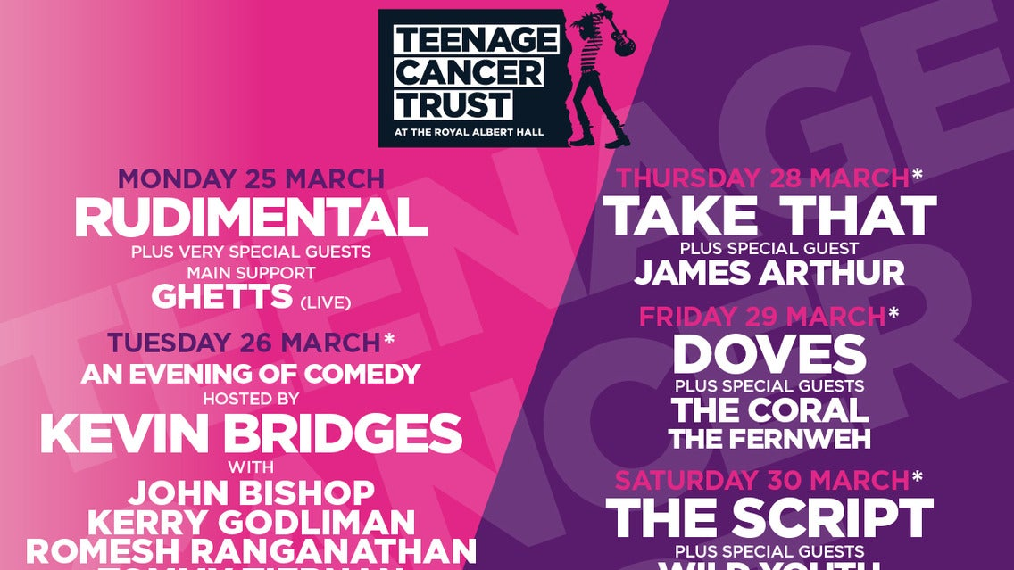 Teenage Cancer Trust Presents: Noel Gallagher's High Flying Birds Event Title Pic