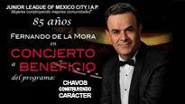Fernando de la Mora en concierto a beneficio.