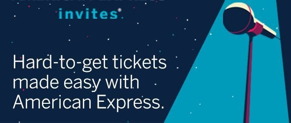 American Express ticket offers  Official Ticketmaster site