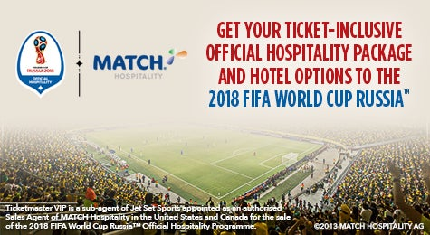 Premium packages platinum ticketmaster vip packages go to russia this summer with official ticket inclusive hospitality and hotel packages to 2018 fifa world cup russia find tickets m4hsunfo