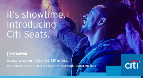 Access to concert tickets for $30 or less.