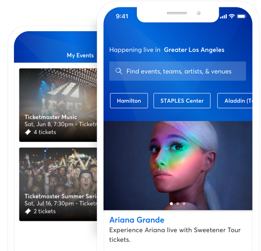 Ticketmaster App - Iphone and Android