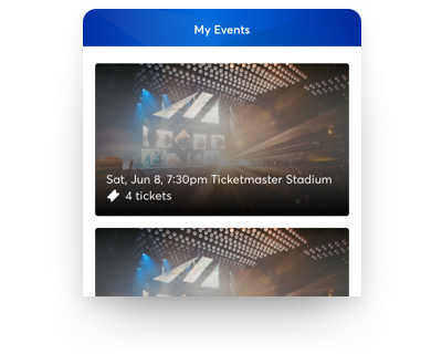 Sign in to your Ticketmaster account