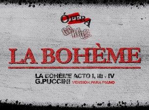 """Opera Garage ''La Bohème de G.Puccini versión #OPERA GARAGE"""""""