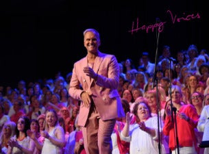 Konsert med kören Happy Voices under ledning av Gabriel Forss