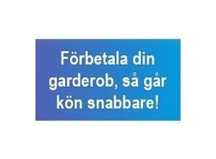 GARDEROBSBILJETT FÖRKÖPSRABATT - SNABBARE KÖ
