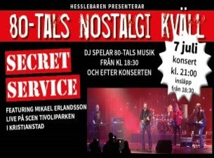 Secret service, featuring Mikael Erlansson live på scen