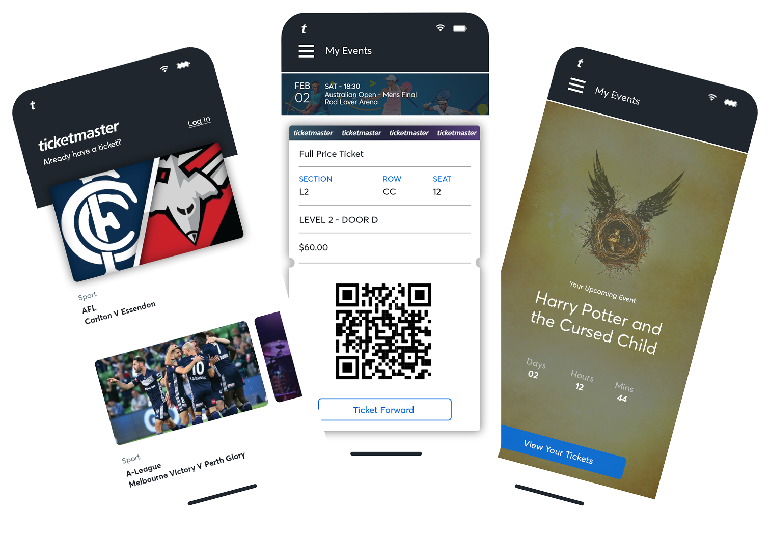 Ticketmaster Mobile App Examples