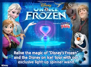 Disney On Ice Frozen Light Up Spinner Wand Tickets