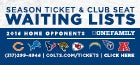 2016 Colts Season Tickets