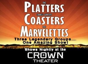 The Platters, Cornell Gunter's Coasters, the MarvelettesTickets