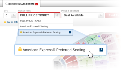 American Express Platinum Customer Service >> Ticketmaster American Express
