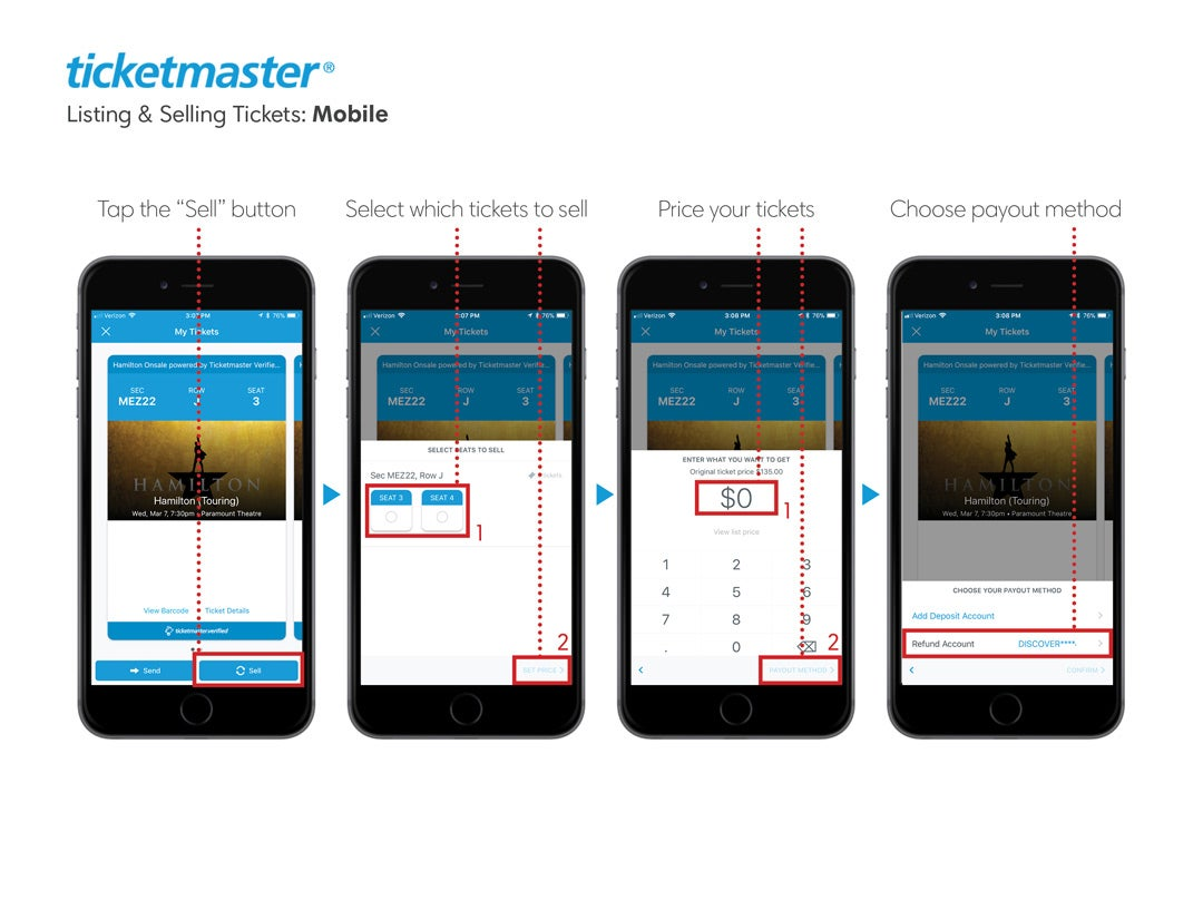 Ticketmaster com - Help | Listing & Selling Tickets