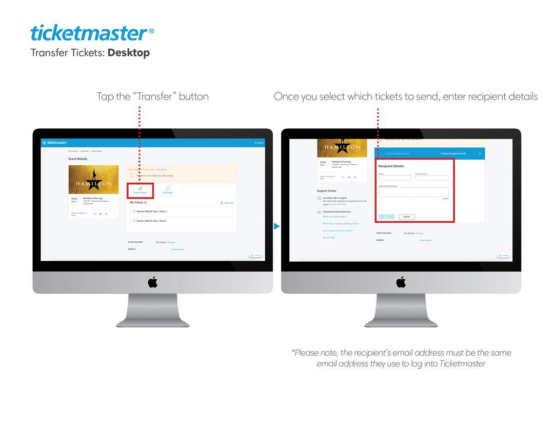 ticketmaster.ca - help | transferring tickets