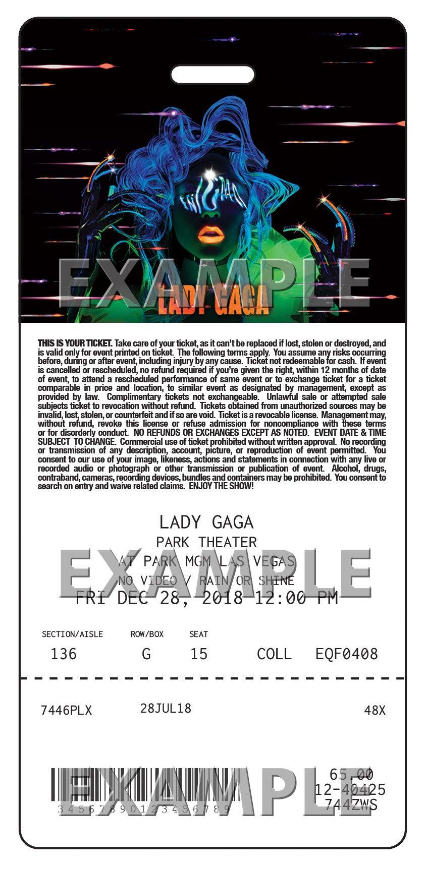 Lady Gaga Ticketmaster