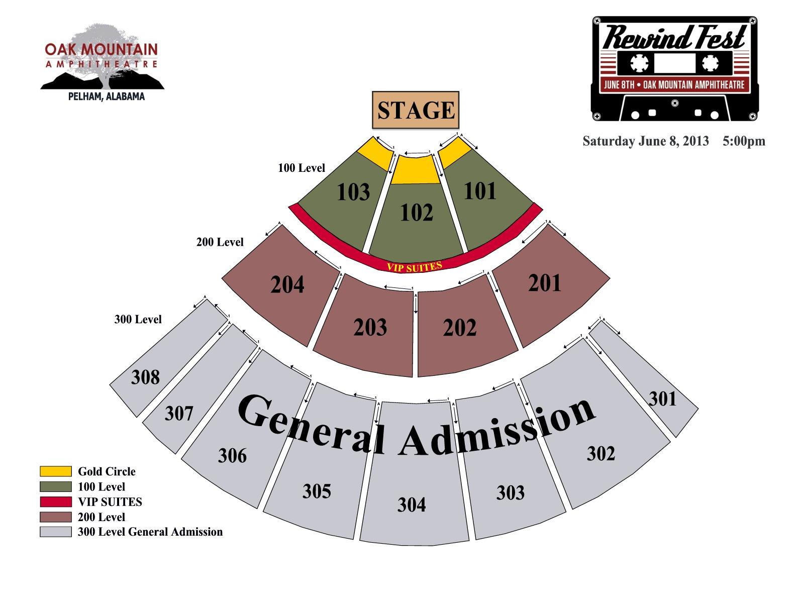 Oak mountain amphitheatre birmingham tickets schedule seating chart directions