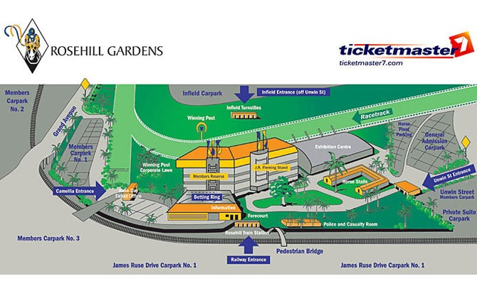 Rosehill Gardens Racecourse Parramatta Tickets Schedule Seating Chart Directions