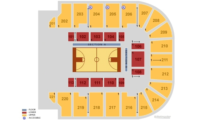 Bancorpsouth arena tupelo tickets schedule seating chart