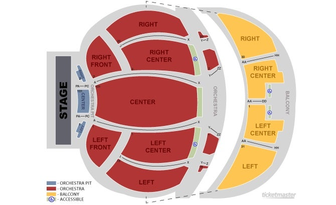 Tennessee theatre knoxville tickets schedule seating chart