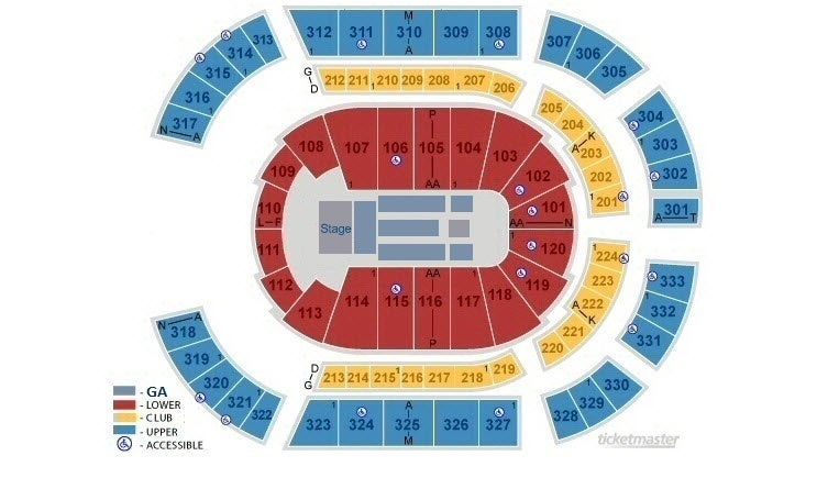 Bridgestone arena nashville tickets schedule seating chart
