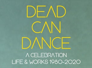 Dead Can Dance Boletos