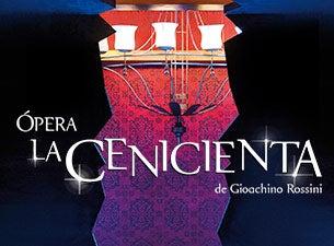 Ópera La Cenicienta de Gioachino RossiniBoletos