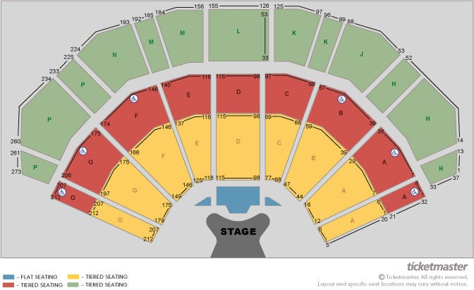 Elton John - Vip Packages Seating Plan at 3Arena