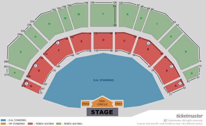 Backstreet Boys: DNA World Tour - VIP Packages Seating Plan at 3Arena