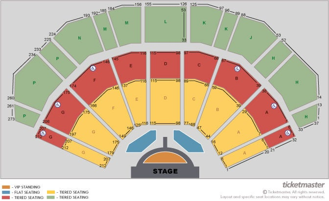Michael Bublé - Official Platinum Tickets Seating Plan at 3Arena