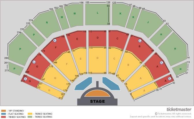 Michael Bublé Seating Plan at 3Arena