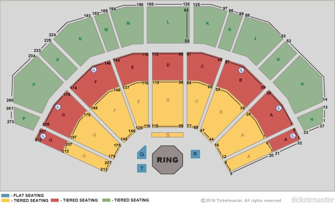 Bellator MMA Seating Plan at 3Arena