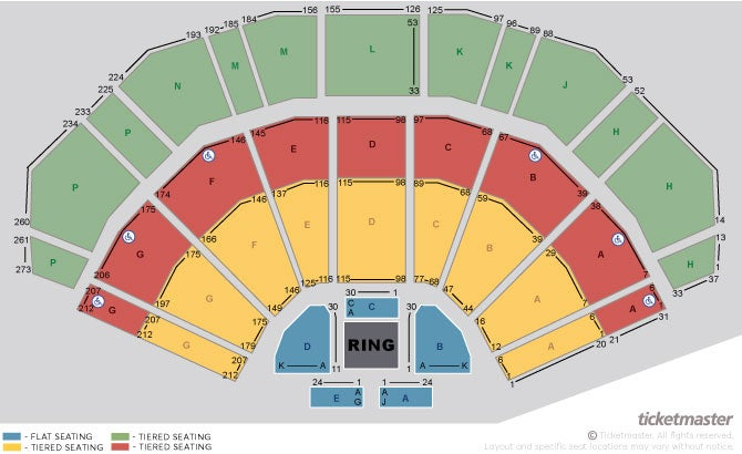 Wwe NXT Uk Live: Dublin Seating Plan at 3Arena