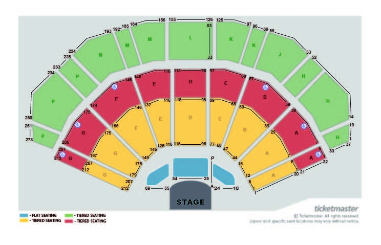 Gary Barlow Seating Plan at 3Arena