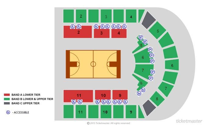 2021 British Basketball Cup Finals Seating Plan at Arena Birmingham